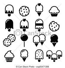 Icone Cibo Ghiaccio Dessert Cupcake