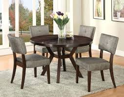 contemporary round dining table modern set for 8