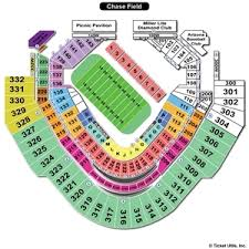 Chase Field Seating Charts