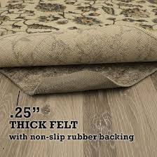 mohawk home dual surface felt non slip rug pad 59 x 9 1 4 inch thick