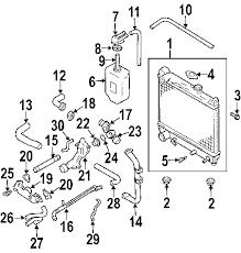 parts com® chevrolet tracker radiator components oem parts 2001 chevrolet tracker zr2 v6 2 5 liter gas radiator components