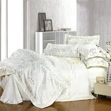 excellent white jacquard bedding set silver and gold forever home master sets queen decor twin comforter