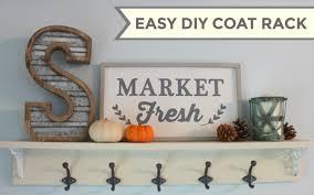 Easy Diy Coat Rack Easy DIY Coat Rack Scott Family Homestead 66