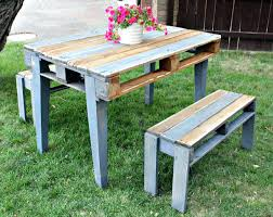 Furniture made from wooden pallets Furniture Ideas Recycled Pallet Table With Two Benches Outdoor Furniture Made From Pallets Diy Using Patio Outdoor Seating Made From Pallets Estoyen Wood Pallet Lawn Furniture Patio Set Contemporary Outdoor Made From