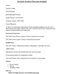 Example Of Resume Letter Sample Analyst And Cover Writers Service ...