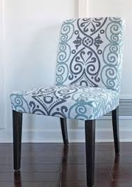 diy dining room chair slipcover love this fabric