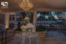 Laguna Gloria Corporate Event Tent Lighting Chandeliers