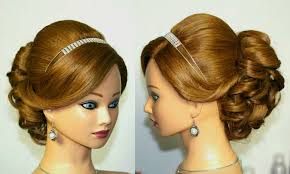 Wedding Prom Hairstyle For Medium Long Hair Updo Tutorial Youtube
