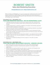 Sales And Marketing Resume Objective Sales And Marketing Executive Resume Samples Qwikresume