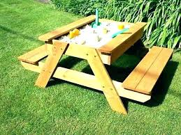 wooden picnic tables round wood table for kids child size with 3