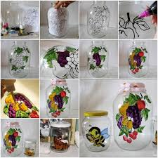 Decorating Ideas For Glass Jars Painting Glass Jars And Bottles Tutorials 58