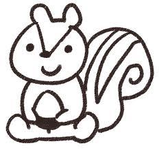リスのイラスト動物 ゆるかわいい無料イラスト素材集