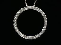 diamond pendant pendant 53p diamond circle of life wg white gold pure diamond 0 25ct