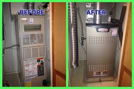 furnace and ac replacement. Beautiful Furnace Heater Replacement 8407 Greyledge  AC BeforeAfter For Furnace And Ac Replacement APlus Energy Management