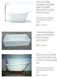 kohler bathtubs cast iron deep soak tub kohler villager cast iron tub home depot