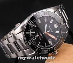 <b>43mm PARNIS black dial</b> date Sapphire glass 20atm automatic ...