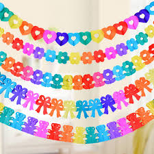 1pc 2.5m 2.8m Rainbow Color Paper Garland Kids Birthday Party Banner ...