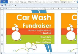 Fundraising Flyer Sample Fundraiser Flyer Templates Word Current Present Car Wash Template