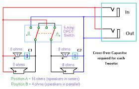 wiring a 2 x 12 speaker cabinet tweeter wiring diagram mono, switchable impedance with 2 voice coil tweeters Tweeter Wiring Diagram