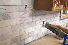 tips for diy subway tile kitchen backsplash
