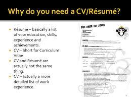 Cv And Resume Are Same Dvmd Portfolio Workshopcv Interviewprep 4
