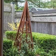obelisk trellis outdoor garden flowers