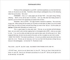 7 Autobiography Outline Template Doc Pdf Free Premium Templates