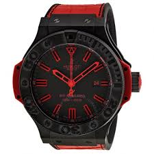 hublot big bang black dial red leather strap men s watch 322 ci hublot big bang black dial red leather strap men s watch 322 ci 1130
