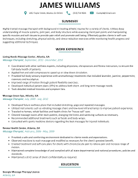 Massage Therapist Resume Massage Therapist Resume Sample ResumeLift 41