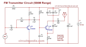 easy fm transmitter circuit 500m simple and best fm transmitter circuit