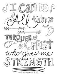 Bible Verse Coloring Page Philippians 413 Printable Coloring
