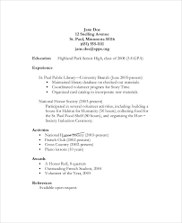 Objective For High School Resumes Sample Resume Objective 6 Documents In Pdf