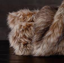 siberian red fox faux fur throw