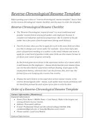 What Is A Chronological Resume ReverseChronological Resume Templates Cover letter 73