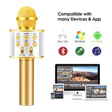 Larryjoe Bluetooth Wireless Microphone WS858 <b>Handheld Karaoke</b> ...