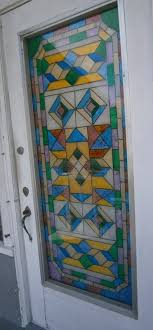 my daughter s door she designed and painted with faux stain glass