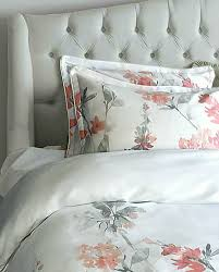 com cynthia rowley new york peach and grey fl watercolor full queen duvet cover set home kitchen