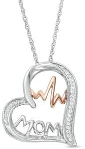 zales diamond heart safety pin necklace image of imagenus co