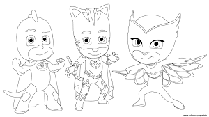 Coloring Pages Pj Masks Freetable Disney Coloring Pageskids