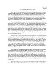 sample college essay topics for fahrenheit  perfect for students who have to write fahrenheit 451 essays fahrenheit 451 essay example for you show how to write book reviews on various topics