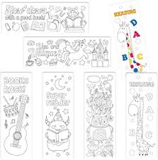 Coloring book, 50 bookmarks, instant download, commercial use, printable pages to color, page for coloring, coloring ebook, pdf. Amazon Com Yoklili Color Your Own Bookmarks 24 Pack Animal Music Theme Diy Coloring Bookmarks For Kids Teachers Students Perfect Gift Idea 2 X 6 Inches Office Products