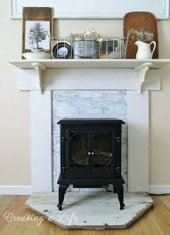 faux fireplace mantel update with designs surround ideas