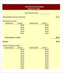 Bank Statement Reconciliation Form Bank Reconciliation Template 11 Free Excel Pdf Documents