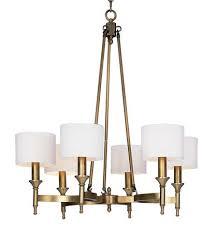 farrah chandelier in natural aged brass from joss main