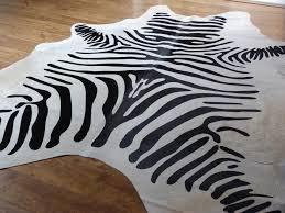 awesome zebra cowhide rug