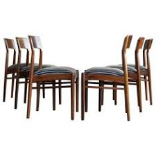 kai kristiansen six dining chairs in rosewood for k s mobler of denmark