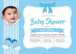 Baby Shower Invitation Cards Baby Shower Blue Invitation Card Template
