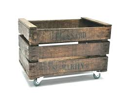wooden crate on wheels y1964 wooden storage