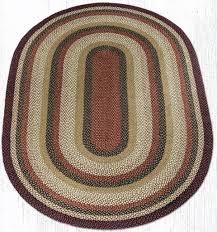 c 319 burdy mustard ivory oval braided rug 6x9