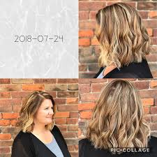 Natural Blonde Highlighted Hair With Caramel
